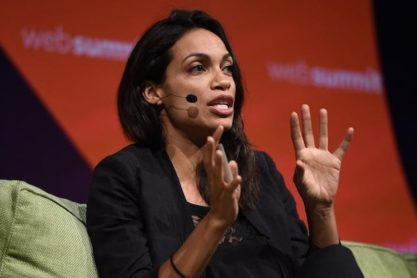 Rosario-Dawson-speaking-on-Planet-tech-at-Web-Summit